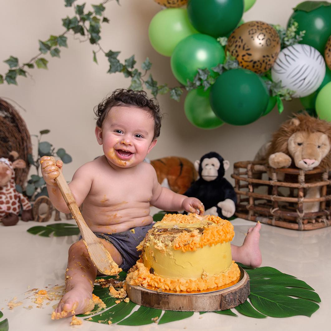 seance photo smash-cake anniveraire